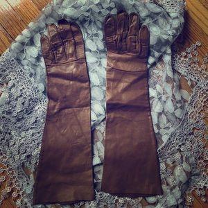 Vintage Satin Kidd Lambskin Gloves